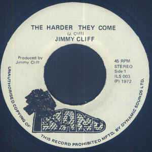 JIMMY CLIFF - The Harder They Come - 45T (EP 4 titres)
