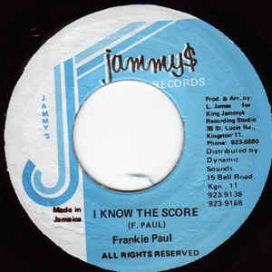 FRANKIE PAUL - I Know the Score - 45T (EP 4 titres)