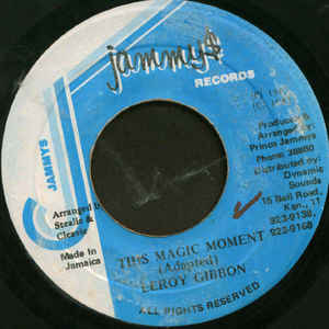 LEROY GIBBONS - This Magic Moment - 45T (EP 4 titres)