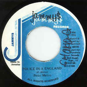 PETER METRO - Police In a England - 45T (EP 4 titres)