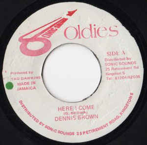 DENNIS BROWN - Here I Come - 45T (EP 4 titres)