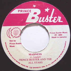 PRINCE BUSTER & THE ALL STARS - Madness - 33T